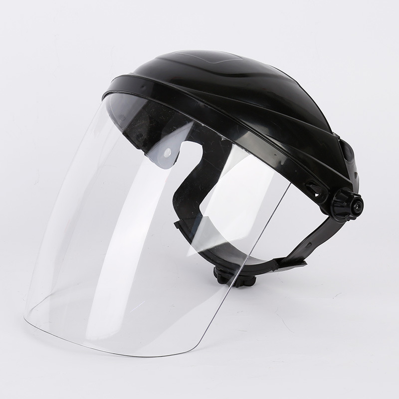 Foldable Mask Head-Mounted Mouth Eye Protection Mask Cover PC Transparent Anti-virus Safety Face Mask