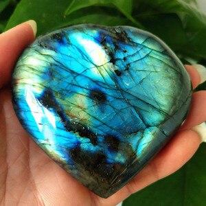 Image 3 - Gran tamaño, piedra policristalina Natural para labrador, cristales curativos, piedra lunar de cristal, chakras y reiki, corazón de meditación