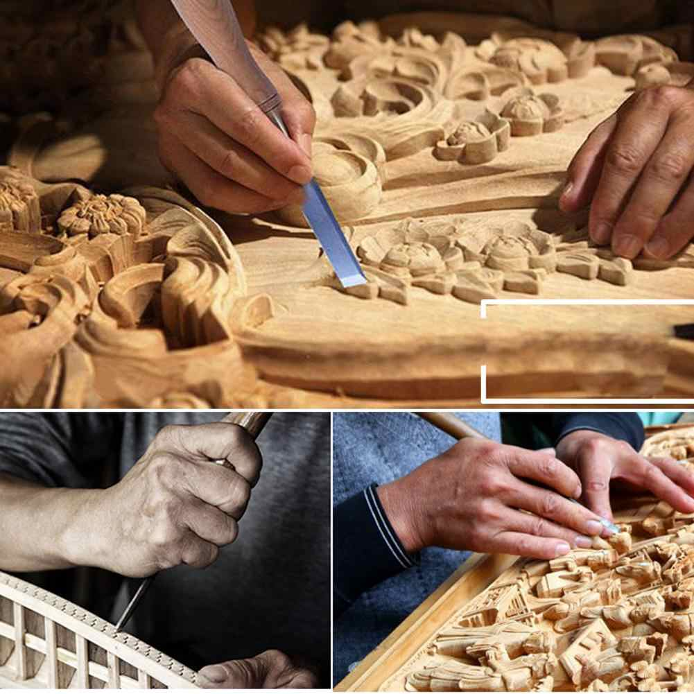 מקצועי 12 יח'\סט ידני עץ גילוף יד כלים מפסלת סט נגרים נגרות גילוף אזמל DIY מפורט יד כלי