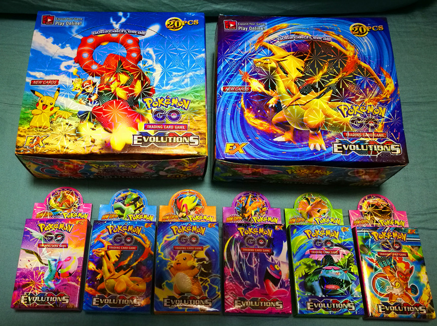 Pokemon Cards The English Version POKEMONCard Game Card 33pcs/box Includes 1 Gold Card