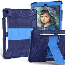 Étui en Silicone pour iPad 10.2 2019 2020 7th Gen pour Mini 4 5 3 couches Protection armure lourde antichoc couverture HardCase