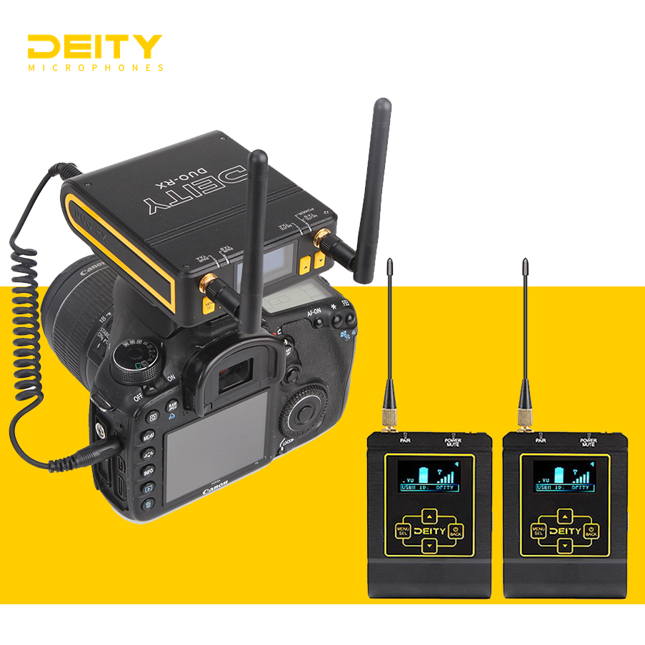 Deity Connect Lavalier Wireless Microphone Dual Channel Receiver 2.4 Ghz Wireless System For DSLR Nikon Sony Canon Camera Microphones    - AliExpress