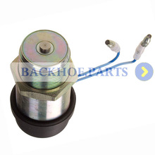 PJ7413147 Fuel Shutoff Stop Solenoid For Volvo EC14 Excavators 12V new fuel injection control fuel shutoff solenoid 1821019c91 12v