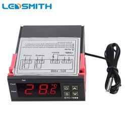 Sensor de Controlador de Temperatura do Termostato Digital STC-1000 10A Termorregulador para Incubadora Dois Relé Interruptor De Refrigeração Aquecimento