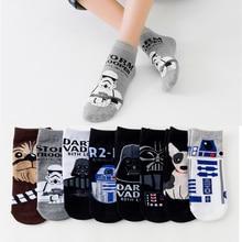 Star Wars Movie Socks Master Cosplay Wookiee Jedi Knight Novelty Mens Womens Spring Autumn Winter ankle socks