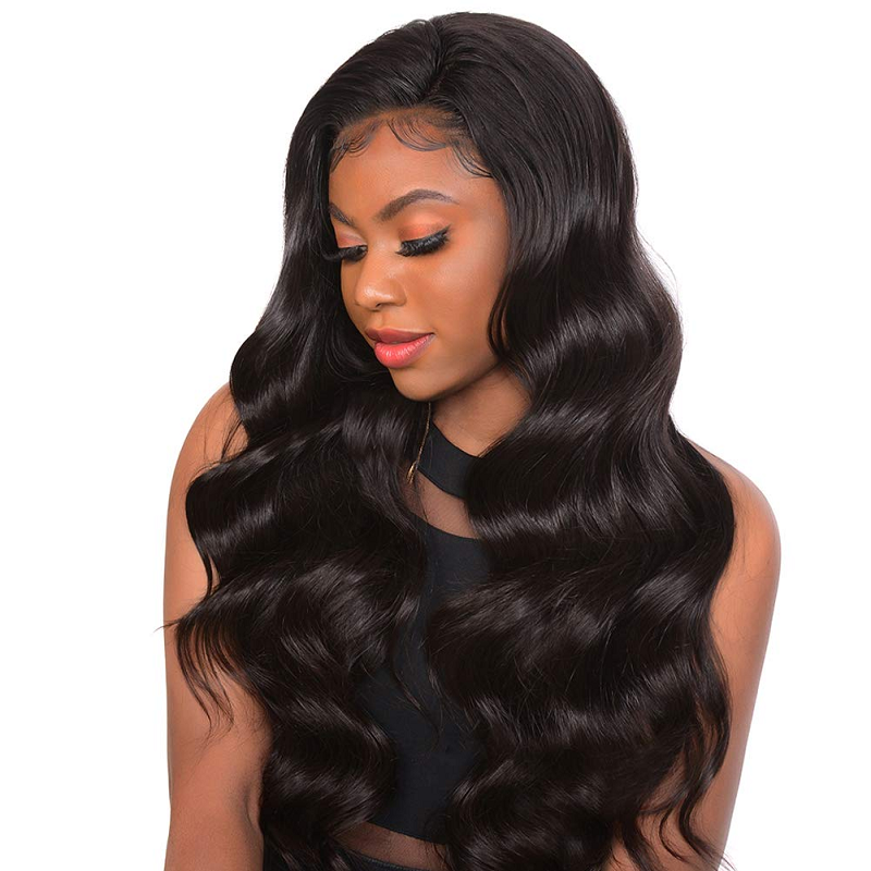 Brazilian Virgin Hair Body Wave Full Lace Human Hair Wigs Transparent Lace Wig Pre Plucked For Women High Ratio Glueless Wig