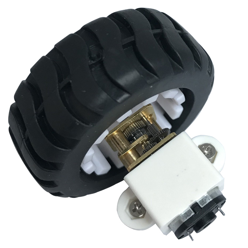 N20 Electric Mini Micro DC Geared Motors 3V 6V 12V Low Speed 15-600RPM In DC Motor With Mounting Bracket Wheel Tire For DIY Toys