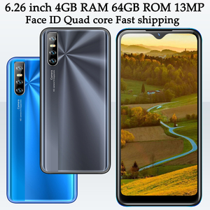 MTK 9C 6.26 inch Water Drop Screen Face ID Mobile phones 4GB RAM 64GB ROM Android Unlocked 13mp HD Camera Quad Core Smartphones