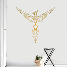 Geometric Phoenix Wall Sticker Vinyl Home Decor For Living Room Bedroom Decoration Mural Removable Animals Birds Decals 4015