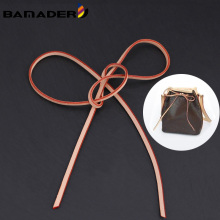 Genuine Leather Bag Strap Detachable Drawstring Strap Bucket Bag High Quality Bunch Strap High Puality Bag Accessory Narrow New