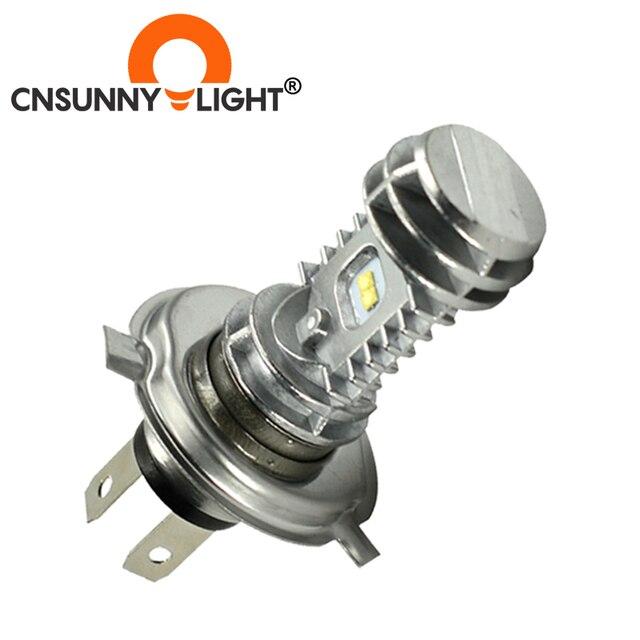 CNSUNNYLIGHT 1pcs 1080LM Super Bright H4 Moto LED Headlight Kit P43t HS1 BA20D H6 Motorbike Headlamp Scooter Conversion Bulbs 12