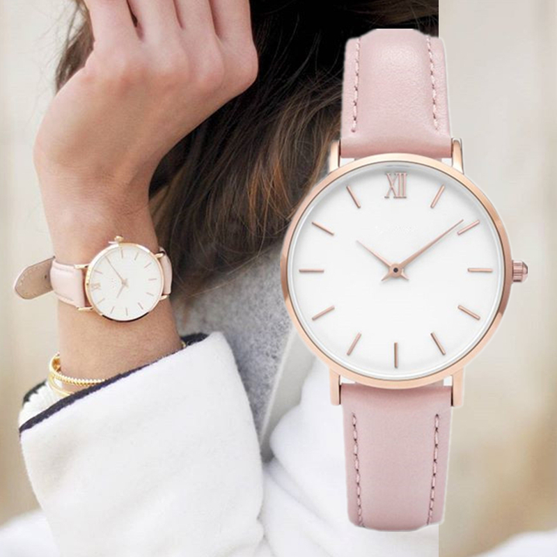 2019 New Fashion Simple Women Watches Casual Ladies Leather Watch Quartz Watch Woman Clocks Vrouwen Zegarek Damski Watchwatch