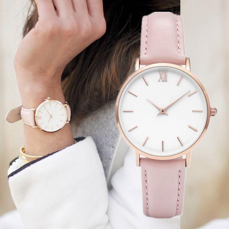 2019 New Fashion Simple Women Watches Casual Ladies Leather Watch Quartz Watch Woman Clocks Vrouwen Zegarek Damski Watchwatch