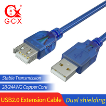 GCX USB 2.0 Cable Male to Male Female Extender Data Cord Wire for Car Reader Mouse Computer USB Extension Cable 1.5m 3m 5m 10m usb 2 0 male to female usb extender cord cable 1 5m 3m 5m 2019 wire super speed data sync extension cable for pc laptop keyboard