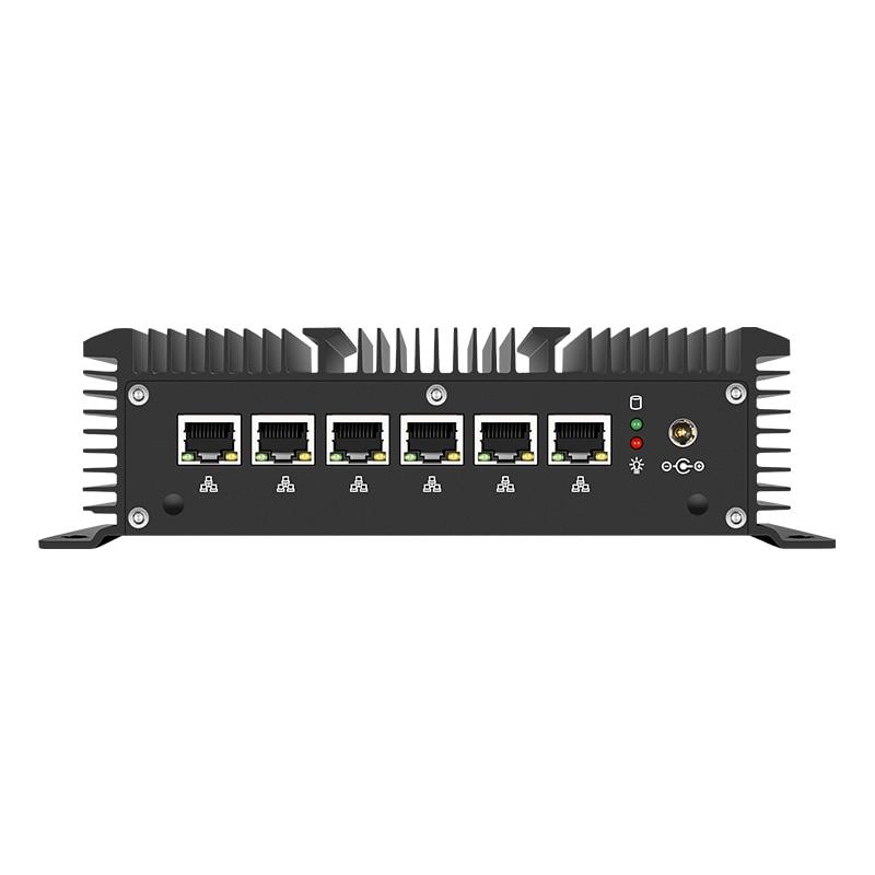 Fanless Mini Pc Intel Core I5 7200U I3 I7 6 LAN DDR3L 210at Gigabit Ethernet HDMI 2*RS232 Firewall Router PFsense Aes-Ni Pocket