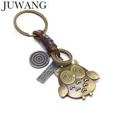 Retro Keychain bronze Owl Pendant Fashion KeychainsKey Ring Personality Bag Accessories Men Women Jewelry