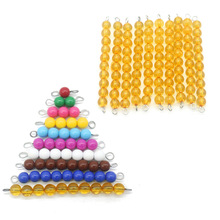 Montessori Materials Math Toy Beads Number Counting Preschool Learning Educational Toys For Kids 3 Years Old Juguetes J1744H