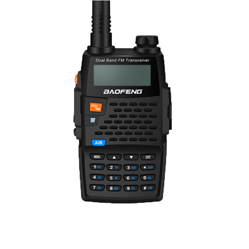 Baofeng UV-5R Black Knight Walkie Talkie 136-174/400-520MHZ Two Way Radio Professional FM Transceiver With earphon