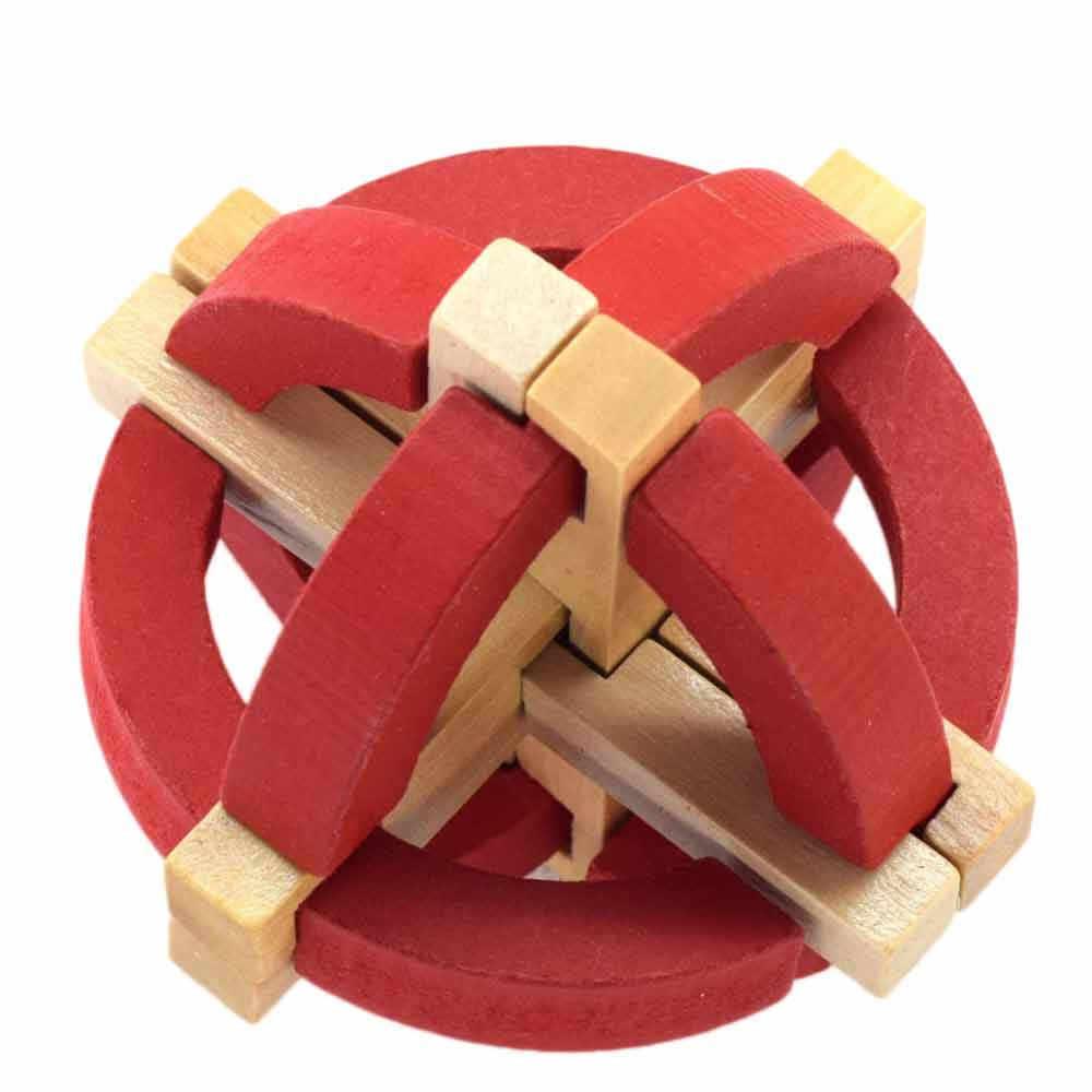 Nuovo Disegno IQ Rompicapo Kong Ming Blocco 3D di Legno Interlocking Burr Puzzle Gioco Del Giocattolo Di Bambù di Piccola Dimensione Per Adulti bambini