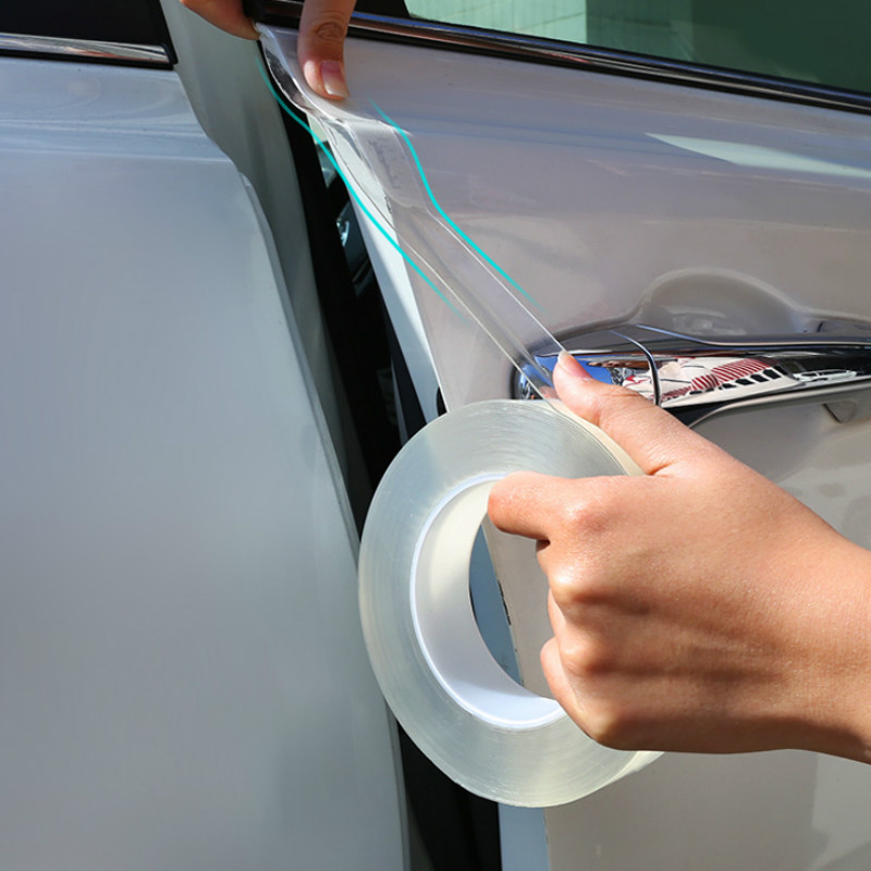 Car Door Sill Sticker Protector Multifunction Nano Tape Sticker Auto Bumper Strip Car Door Protection Anti-collision Accessories