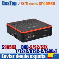 4K/8K Android DVB TV BOX GTMEDIA GT Combo DVB-S2X + DVB-T2 ,BT 4.0, google sprach Remote Internet box,CCam,M3U Decoder-Tuner