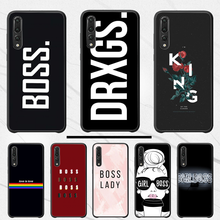 Silicone girl boss pink female cartoon back case TPU Soft Silicone Phone Case Cover For Huawei P10 20 pro lite plus P7 2019(China)
