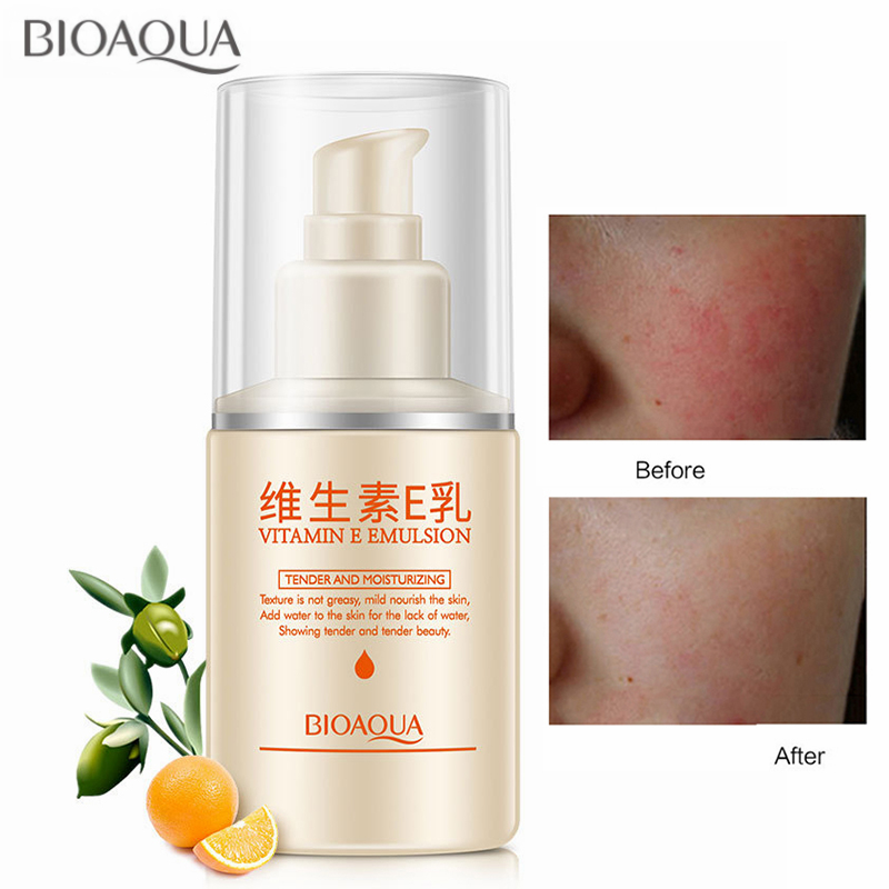 BIOAQUA Vitamin E Emulsion Face Cream Moisturizing Anti-Aging Anti Wrinkles Removal Day and Night Creams Women Skin Care 100ML