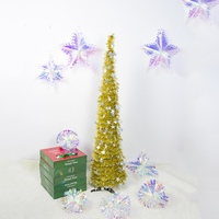 DIY Christmas Trees Sequins Star Christmas Tree Ornaments Festive Decorations Supplies