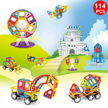 114PCS Magnetic Building Blocks Educational Tiles Kit  Magnet Designer Construction Toys Set For Kids Gfit MAGBROTHER - DISCOUNT ITEM  20% OFF All Category