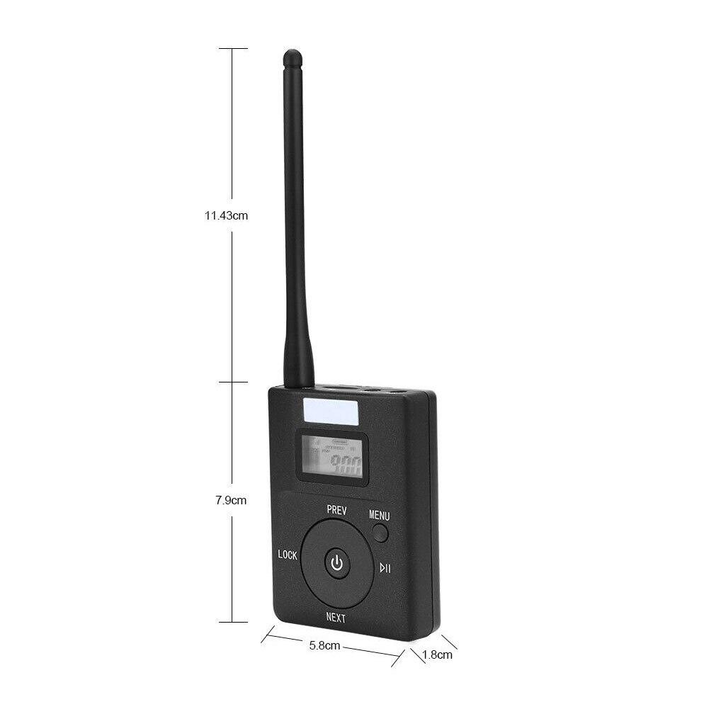 Durable pour MP3 PC CD adaptateur de diffusion Portable Support carte TF Mini Radio stéréo rapide 3.5mm Aux emetteur FM pratique - 5