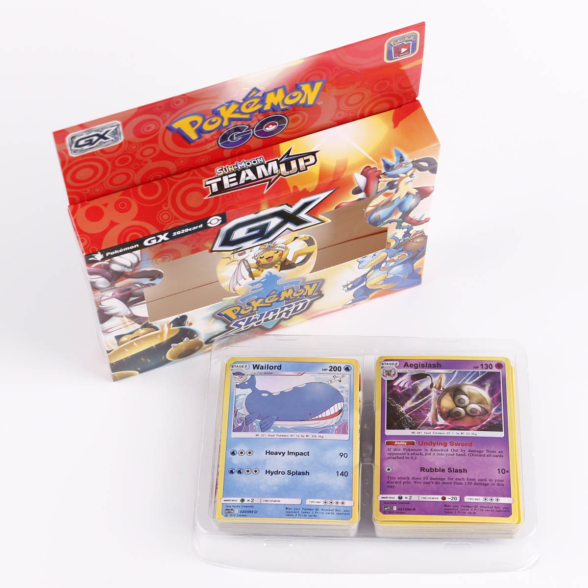 TOMY Pokemon 2020 Latest 54 Card Solitaire Pokemon Card Sword and Shield Box Trading Card Game Kids Collection Toys gift 1