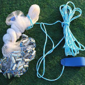 Obsada netto wędkarstwo ręczne obsada siatka nylonowa styl japoński rzut sieć rybacka pułapka wędkarska klatka dla małych ryb Bia tanie i dobre opinie CN (pochodzenie) Żyłka Drobna siatka Fishing Hand Cast Net None Pojedyncze Sieć ręczna Sieci rybackie Outdoor Throw Catch Fishing Net