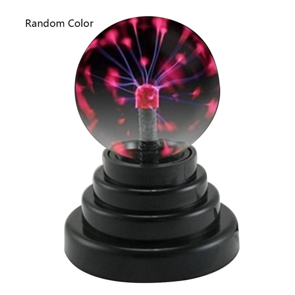 2019 USB Plasma Ball Electrostatic Sphere Light Magic Crystal Lamp Ball Desktop Lightning Christmas Party Touch Sensitive Lights