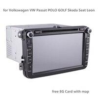 8 inch Car Mp5 DVD Multimedia Player Wince GPS Auto radio 2 Din Radio USB for Volkswagen/VW/ Passat/POLO/GOLF/Skoda/Seat/Leon