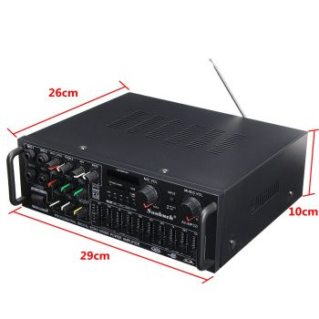 bluetooth 2.0 Channel 2000W Audio Power HiFi Amplifier  2