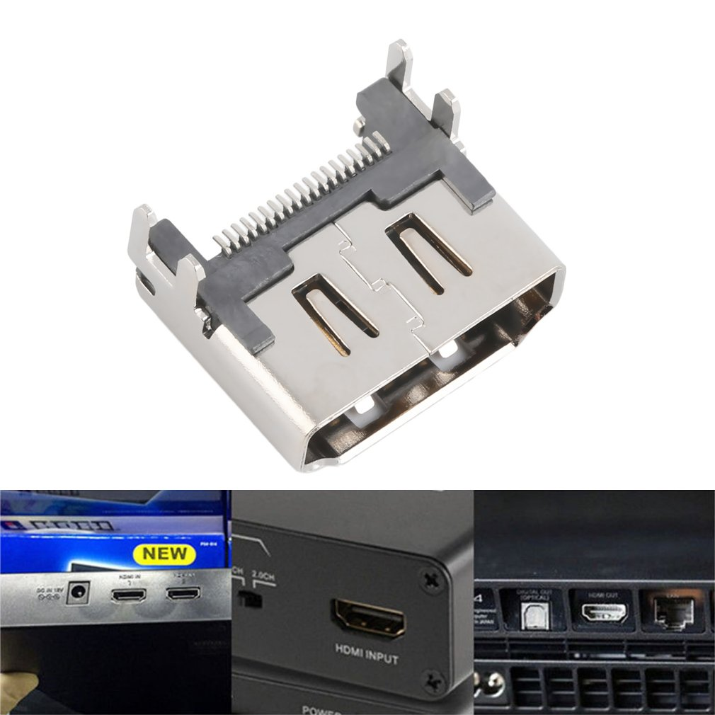 For <font><b>PS4</b></font> HDMI Port Socket Interface <font><b>Connector</b></font> For PlayStation 4 Perfectly designed For <font><b>PS4</b></font> Best Replacement for Cracked Parts image