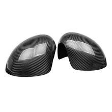 Par real fibra de carbono espelho retrovisor capa caps proteção escudo apto para mini cooper acessórios r55 r56 r60 f55 f56 f60
