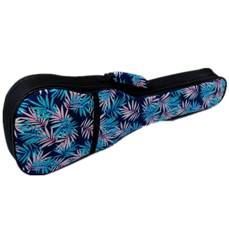 Vintage Soprano Concert Tenor Ukulele Soft Bag Blue Leaves Case Gig Padded Pattern Creative Gifts Kids Girl Boy