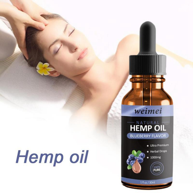 Hemp Oil Blueberry Massage Oil Nourishing Skin Relieve Muscle Pain Soothing Stress Improve Sleeping Essential Oil 2019 image