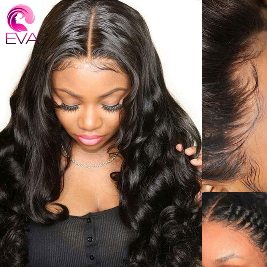 Eva Hair 360 Lace Frontal Human Hair Wigs Loose Wave Pre Plucked With Baby Hair Bleached Knots Remy Hair Wigs For Black Women