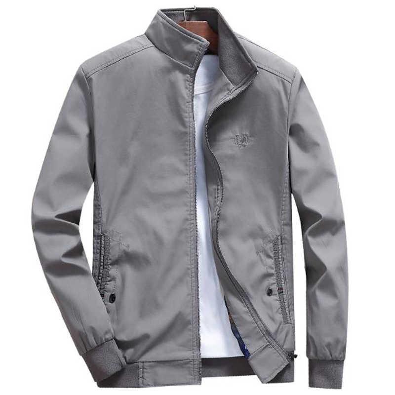 이름 브랜드 남성 자켓 및 코트 봄 여름 얇은 코트 아빠 의류 캐주얼 플러스 사이즈 XXXXL 남성 자켓 Streetwear A614