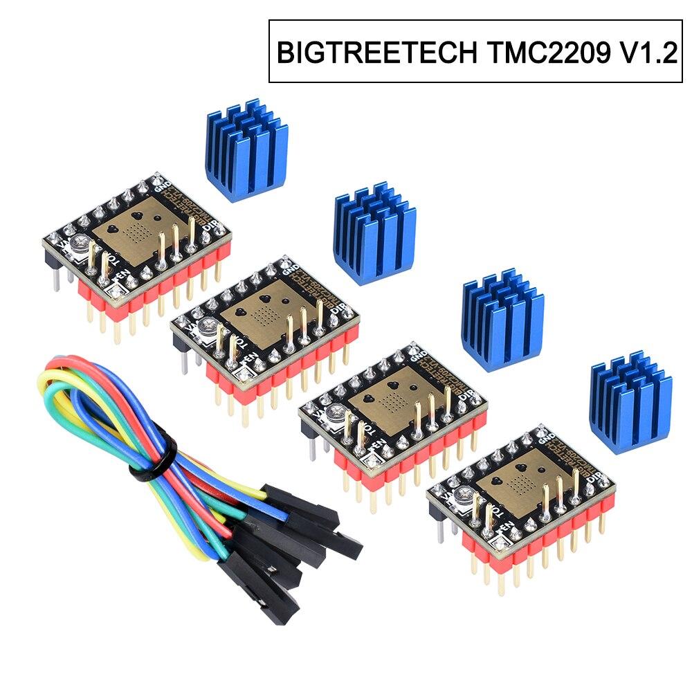 BIGTREETECH TMC2209 V1.2 controlador de Motor paso a paso TMC2208 UART 2.8A 3D piezas de la impresora TMC2130 TMC5160 para SKR V1.3 V1. 4 mini E3