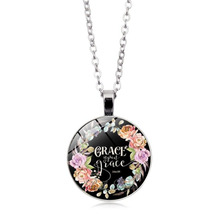 LISTE&LUKE Bible Verses Scripture Necklace Silver Plated Pendant For Christian Quote Jewelry Party Favor Gifts NL0806