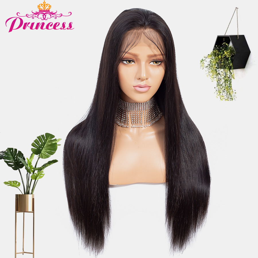 Beautiful Princess 13x4 Lace Front Human Hair Wigs Pre Plucked Hair Line Brazilian Straight Lace Frontal Wig With Baby Hair Remy