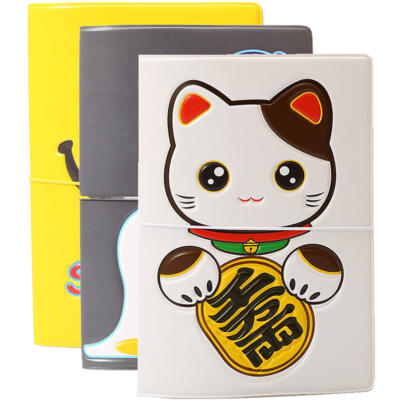 Cute Animal Cat Passport Cover Wallets Bag Travel Accessories Women Men ID Address Holder Portable PU Leather Boarding Card Case