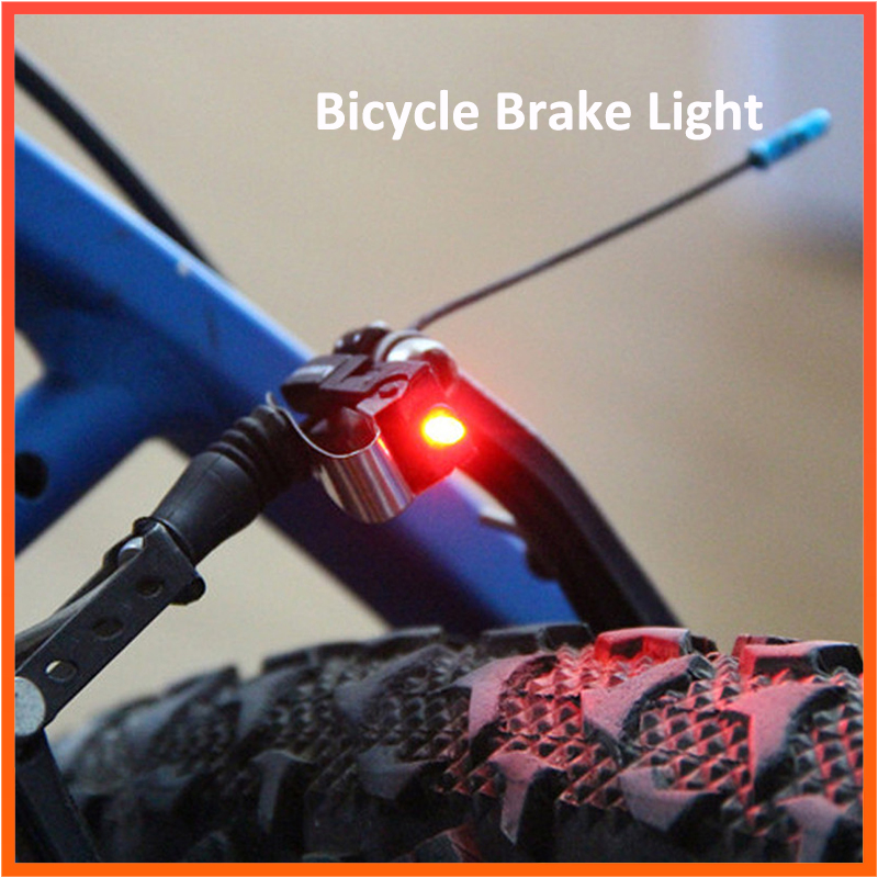 Bike Brake Light Mount Tail Rear Bicycle Cycling LED Safety Warning Lamp Include CR1025 Battery Bike Brake Interior Parts