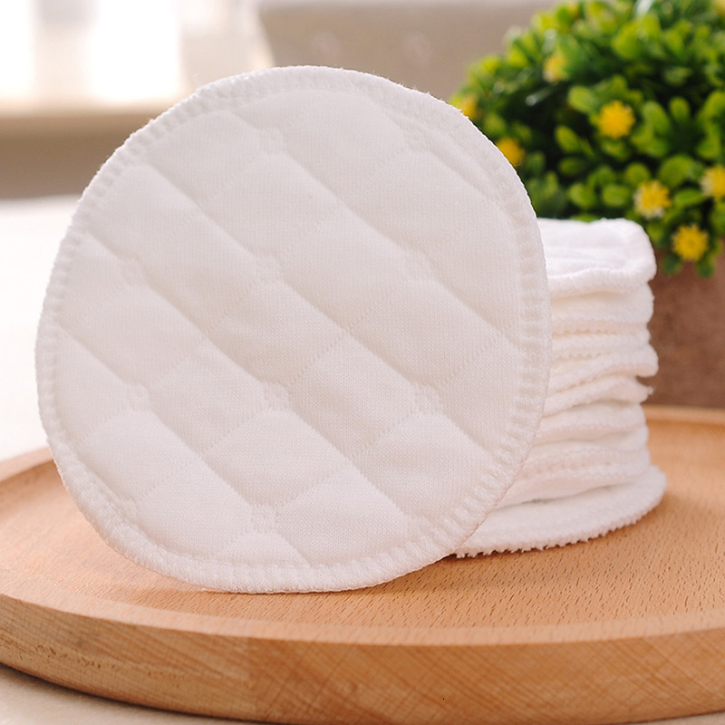 10pcs/pack Leak-Proof Cotton Breastfeeding Washable Soft Reusable Women Nursing Breast Pads Waterproof Breast Pad For Pregnant