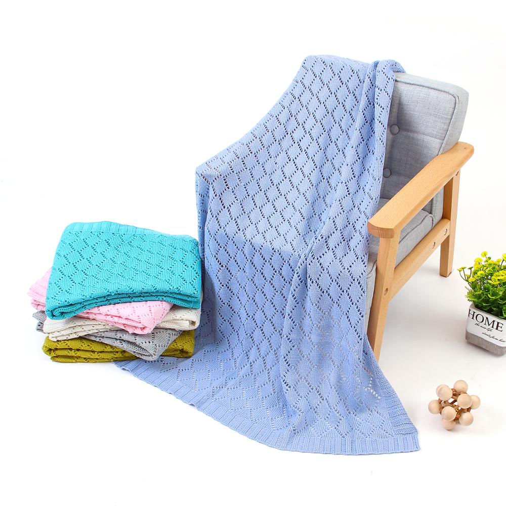 Baby Blankets Knitted For Newborns Bebes Swaddle Wrap Blanket Candy Color Infantil Stroller Sofa Bedding Covers Toddler Quilts
