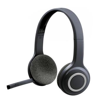 Logitech H600 2.4GHz Wireless Headset Over-The-Head Gaming Stereo Headphones Portable Fordable Earphones with microphone for PC