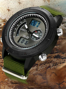 AMST Quartz Wristwatches Clocks Military Analog Male Waterproof Sport 3ATM Strap Masculino
